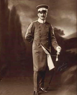 Sepia photograph of Otto Wille in Uniform c. 1903