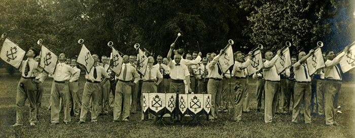 Photograph of the Tsingtau Band, c. 1917-18.